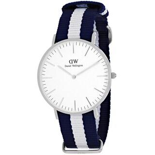 Daniel Wellington Women's 0602DW Classic Glasgow Round Two-Color Nylon Strap Watch