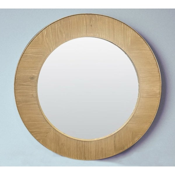 Rustic Style 27 5 Inch Round Wall Mirror