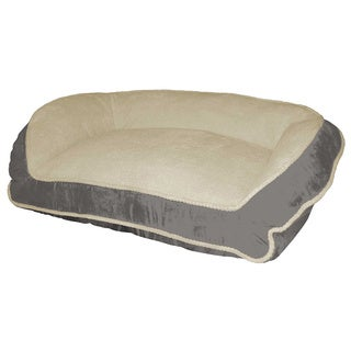 Micro Suede Deep Seated Lounger Pet Bed