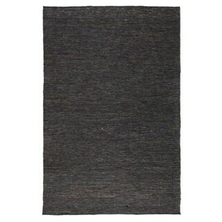 Kosas Home Tessa Soumak Charcoal Natural Fiber Jute Area Rug (5' x 8')