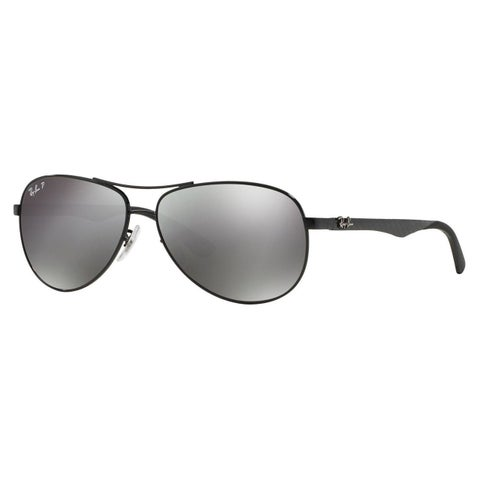 Ray-Ban Unisex Tech RB 8313 002/K7 Shiny Black Carbon Fiber Aviator Sunglasses