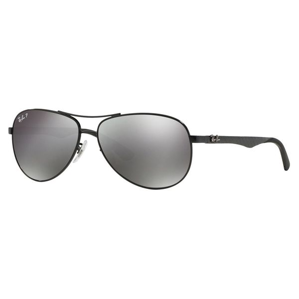 fc464433af Ray-Ban Unisex Tech RB 8313 002 K7 Shiny Black Carbon Fiber Aviator  Sunglasses