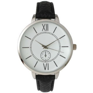 Olivia Pratt Women's '14950' Skinny Decorative Chronograph Leather Watch
