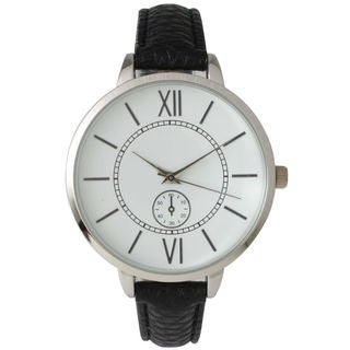 Olivia Pratt Women's '' Skinny Decorative Chronograph Leather Watch