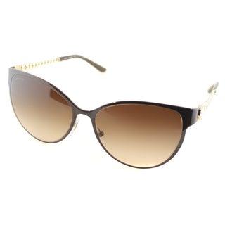 Bvlgari Womens BV 6070H 2000/13 Brown Metal Cat Eye Sunglasses