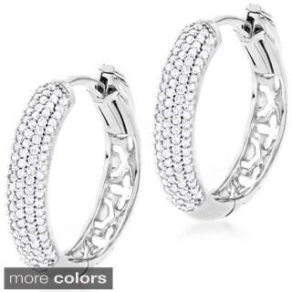Luxurman 14k Gold 1/2ct TDW Diamond Hoop Earrings (H-I, SI1-SI2)