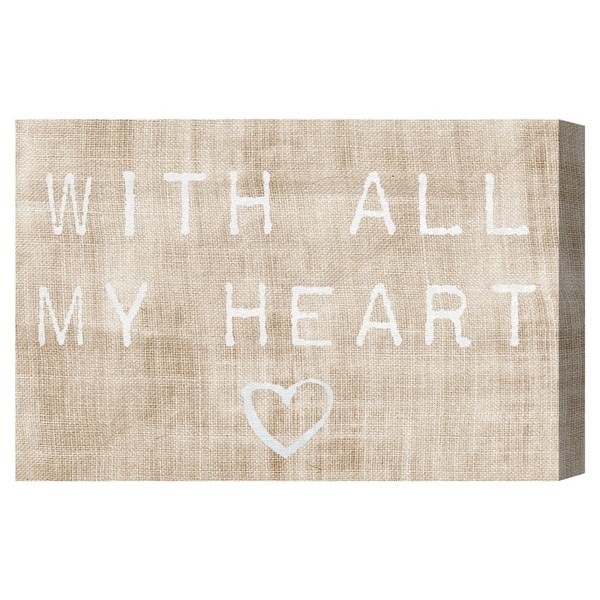 Blakely Home 'With All My Heart' Canvas Art