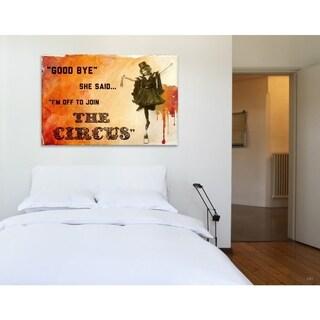 Oliver Gal 'Join The Circus Orange' Canvas Art - Orange
