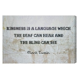 Blakely Home 'Kindness is a Language' Canvas Art