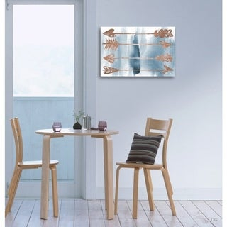 Blakely Home 'Arrows Rose Gold' Canvas Art