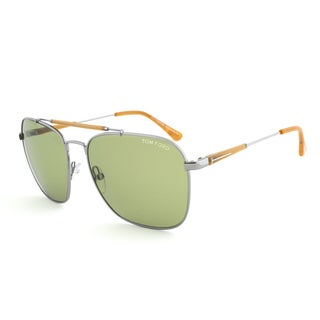 Tom Ford TF377 14N Edward Gunmetal Pilot Sunglasses