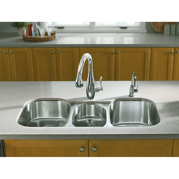 Shop Kohler Undertone Undercounter Stainless Steel 41.625x20 ...