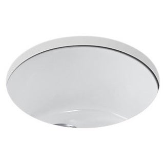 Kohler Porto Fino Self-Rimming 18-3/8x18-3/8x8.625 0-Hole Single Bowl Entertainment Sink in White