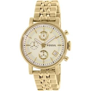 Fossil Women's Dress ES2197 Gold Stainless-Steel Quartz Watch