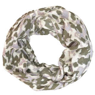LA77 Women's Camouflage Print Infinity Scarf