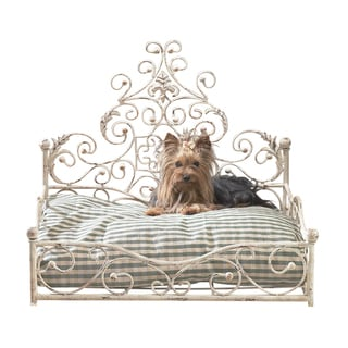 Old World Antique Iron Scroll Design Pet Bed