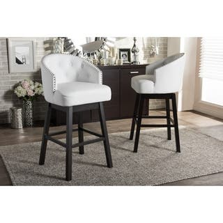 Shop Corliving Kings Bar Height Barstool With Metal Studs