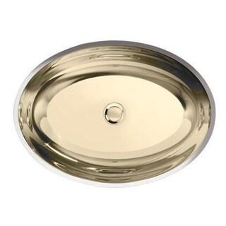 Kohler Rhythm Undermount Bathroom Sink in Mirror French Gold