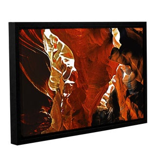 ArtWall Linda Parker 'Slot Canyon Light From Above 6' Gallery-wrapped Floater-framed Canvas