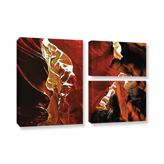 ArtWall Linda Parker 'Slot Canyon Light From Above 6' 3 Piece Gallery-wrapped Canvas Flag Set