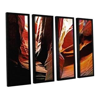 ArtWall Linda Parker 'Slot Canyon Light From Above 4' 4 Piece Floater Framed Canvas Set
