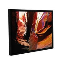 ArtWall Linda Parker 'Slot Canyon Light From Above 4' Gallery-wrapped Floater-framed Canvas