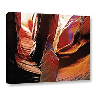 ArtWall Linda Parker 'Slot Canyon Light From Above 4' Gallery-wrapped Canvas