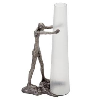 Detento Chiseled Glass Tall Vase