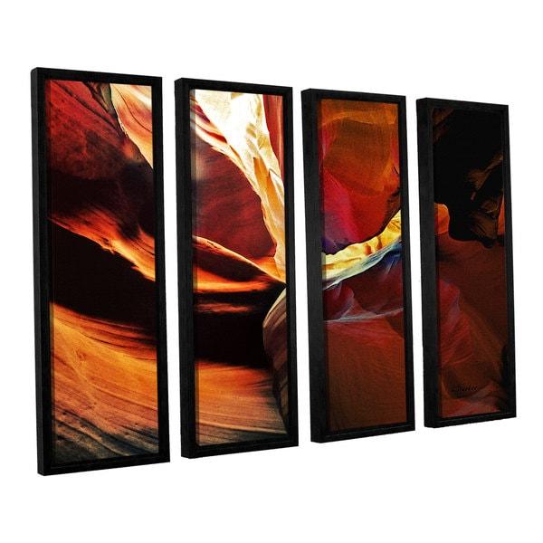 ArtWall Linda Parker 'Slot Canyon Light From Above 2' 4 Piece Floater Framed Canvas Set