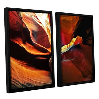 ArtWall Linda Parker 'Slot Canyon Light From Above 2' 2 Piece Floater Framed Canvas Set