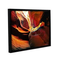 ArtWall Linda Parker 'Slot Canyon Light From Above 2' Gallery-wrapped Floater-framed Canvas