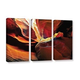 ArtWall Linda Parker 'Slot Canyon Light From Above 2' 3 Piece Gallery-wrapped Canvas Set