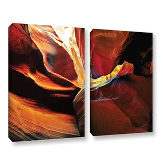 ArtWall Linda Parker 'Slot Canyon Light From Above 2' 2 Piece Gallery-wrapped Canvas Set