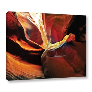 ArtWall Linda Parker 'Slot Canyon Light From Above 2' Gallery-wrapped Canvas