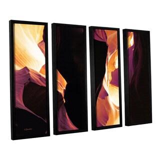 ArtWall Linda Parker 'Slot Canyon Light From Above 1' 4 Piece Floater Framed Canvas Set