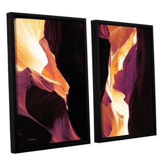ArtWall Linda Parker 'Slot Canyon Light From Above 1' 2 Piece Floater Framed Canvas Set