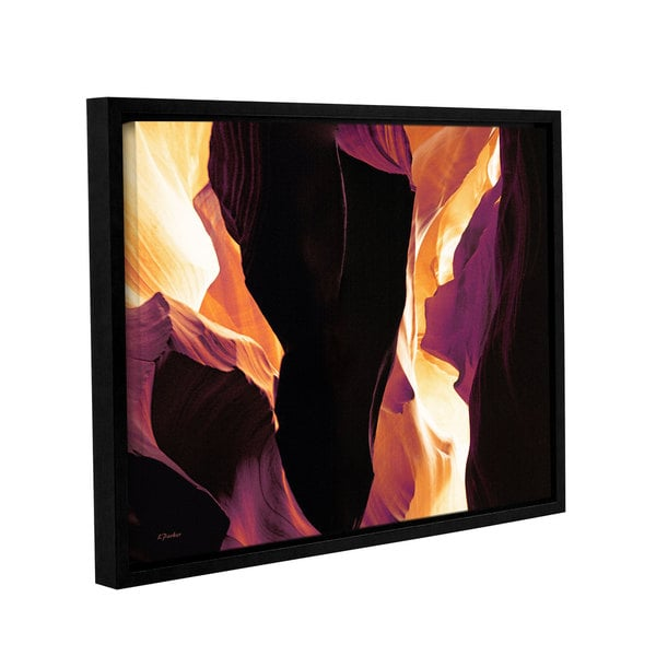 ArtWall Linda Parker 'Slot Canyon Light From Above 1' Gallery-wrapped Floater-framed Canvas