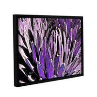 ArtWall Linda Parker 'Queen Victoria Agave' Gallery-wrapped Floater-framed Canvas