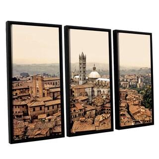 ArtWall Linda Parker 'Siena Landscape ' 3 Piece Floater Framed Canvas Set