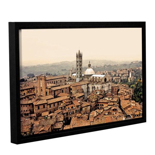 ArtWall Linda Parker 'Siena Landscape ' Gallery-wrapped Floater-framed Canvas