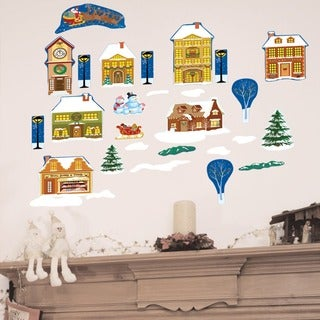 Winter Village Wall Decal Set - Santa