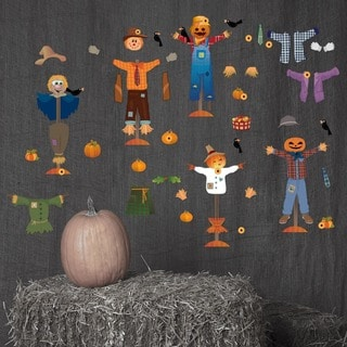 Fall Scarecrow Wall Decal Set