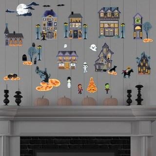 Halloween Village Frankenstein Wall Decal Set