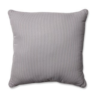 Pillow Perfect Oxford Charcoal 18-inch Throw Pillow