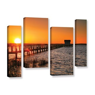 ArtWall Steve Ainsworth 'House At The End Of The Pier' 4 Piece Gallery-wrapped Canvas Staggered Set