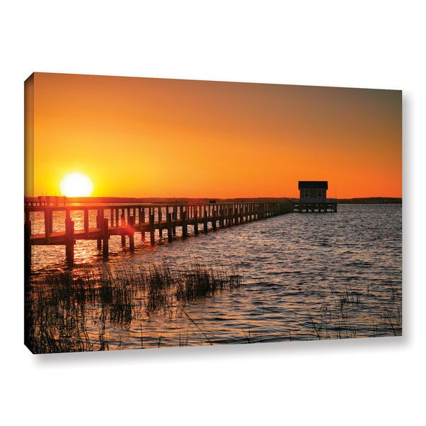 ArtWall Steve Ainsworth 'House At The End Of The Pier' Gallery-wrapped Canvas - Multi