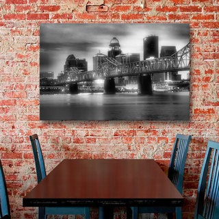 ArtWall Steve Ainsworth 'Gritty City' Gallery-wrapped Canvas