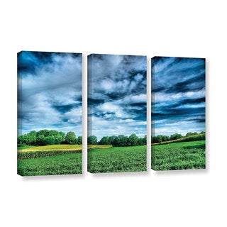 ArtWall Steve Ainsworth 'Field Of Dreams' 3 Piece Gallery-wrapped Canvas Set