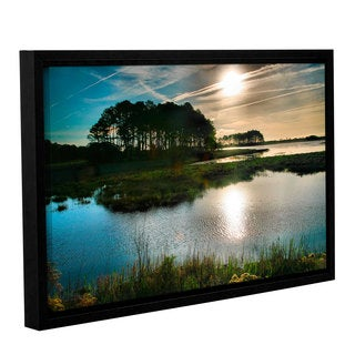 ArtWall Steve Ainsworth 'Early Morning On Beach Drive I' Gallery-wrapped Floater-framed Canvas
