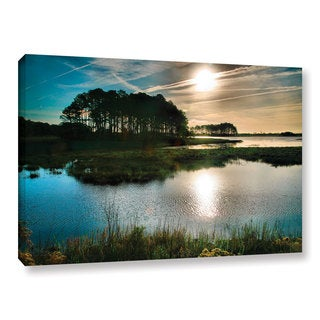 ArtWall Steve Ainsworth 'Early Morning On Beach Drive I' Gallery-wrapped Canvas